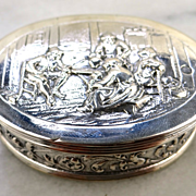 Elegant 1895 833 Silver Dutch Netherlands Pill Snuff Trinket or Boudoir Box
