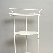 Tiered Iron Washer Stand c 1800's