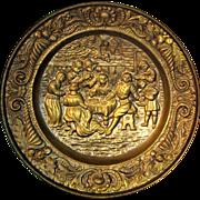 Beautiful Old Dutch Copper Plate