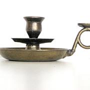 Charming Dutch Vintage Gilded Metal Candleholder