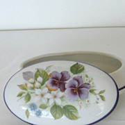 Pretty 1950's Reutter Porcelain Jewerly Box