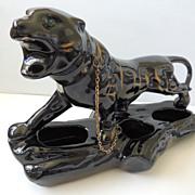 Vintage Black Panther Planter