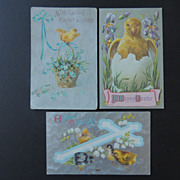 Three Vintage Easter Post Cards