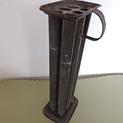Primitive Tin Candle Mold