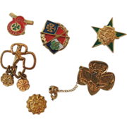 6 Girl Scout Pins