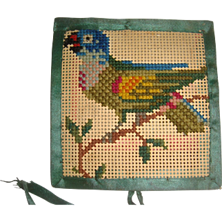 Pierced paper needle case with birds