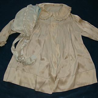 Stunning toddler jacket and bonnet hand stitching