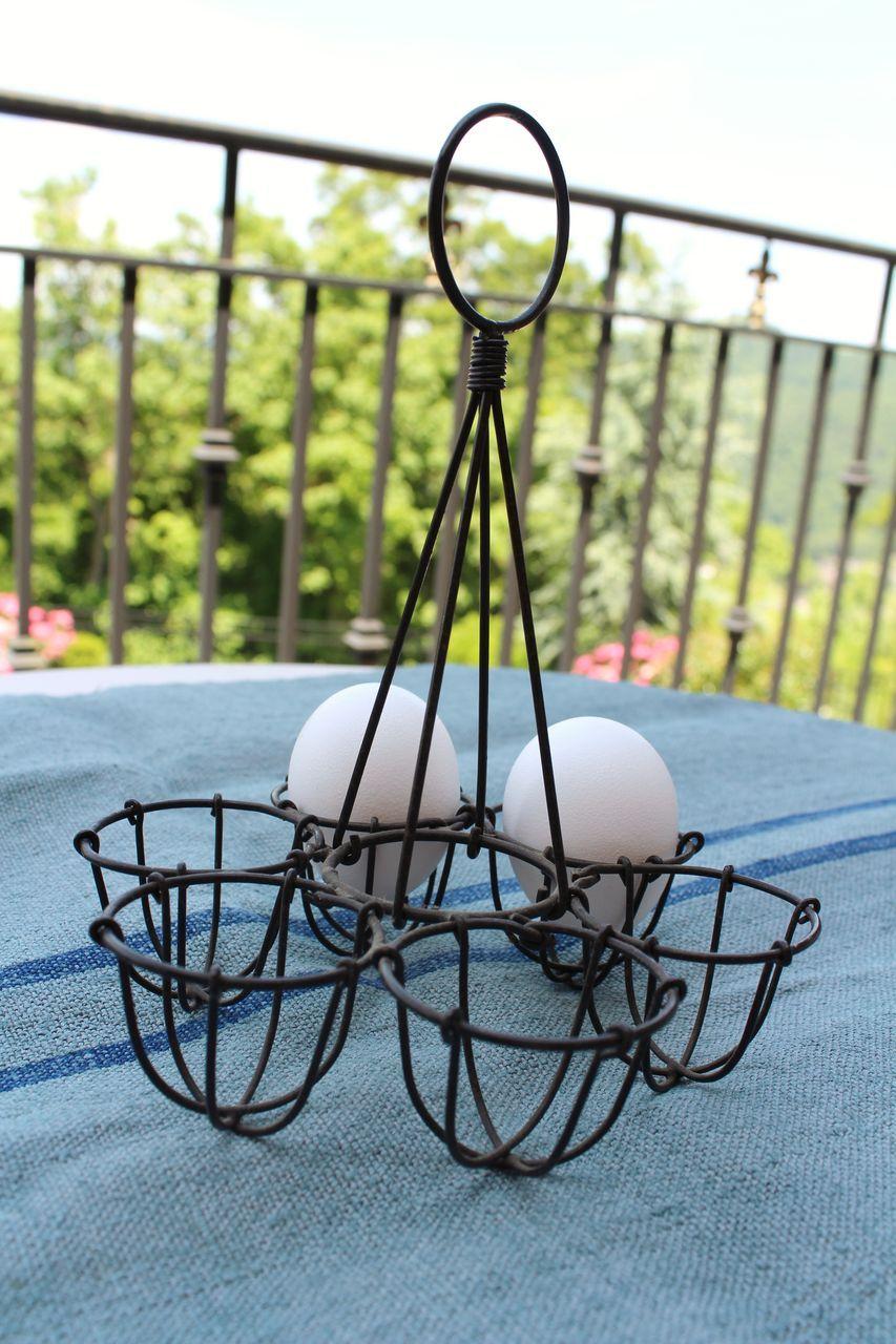 Vintage French Wire Egg Holder
