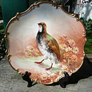 Coiffe Limoges Cabinet Plate - Artist Signed - ca. 1891-1914