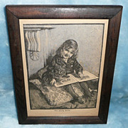 'The Young Artist' by J.G. Bergmuller - Engraving - ca. 1900-1940 (approx)