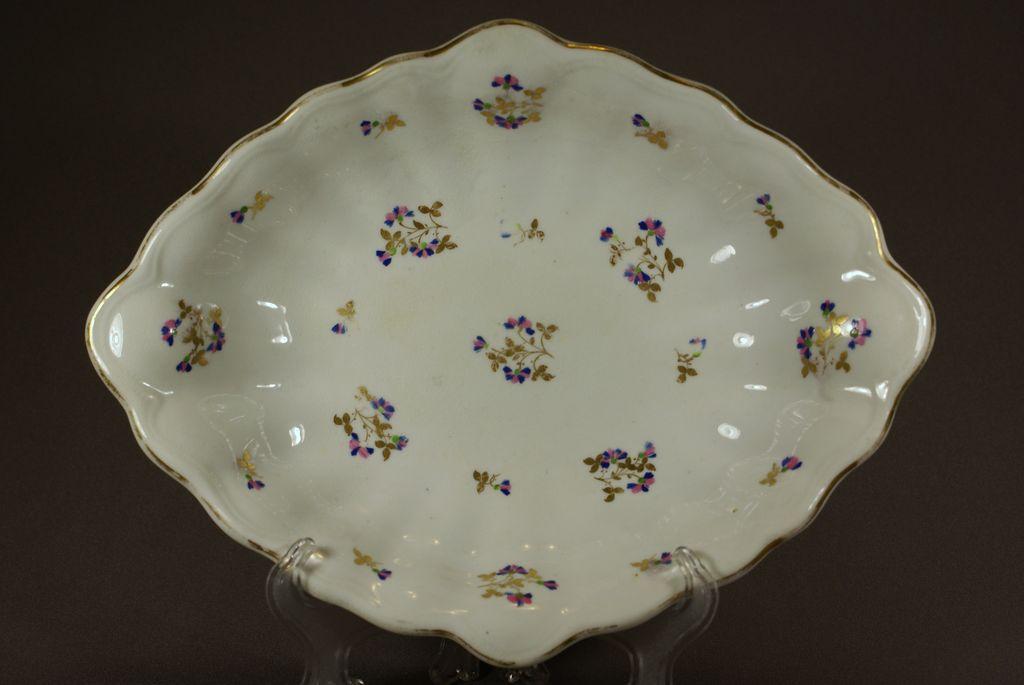 Derby Porcelain Lozenge Shaped Dessert Dish - C 1815