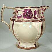 Pink Lustre Weston Style Pitcher, C1820