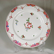 Pearlware Kings Rose Decorated Plate C 1810's