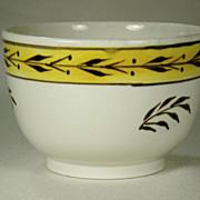 Pearlware Bowl with Pratt Ware Type Decoration, C 1810's