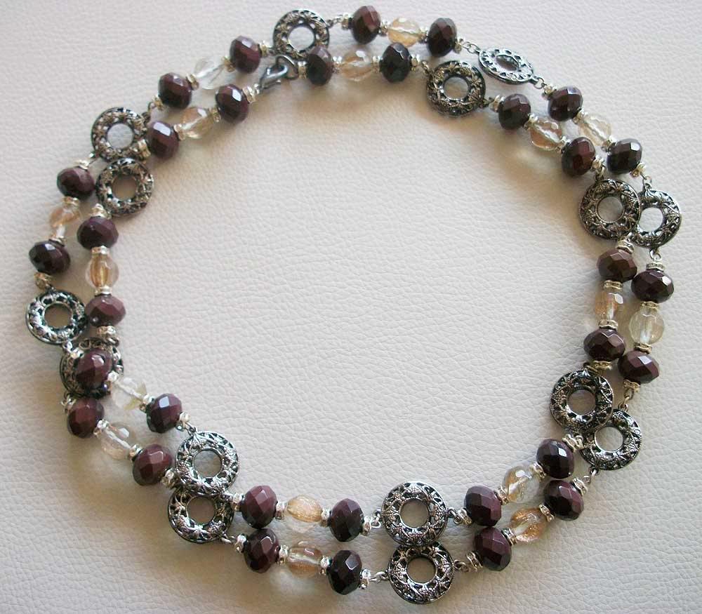 Vintage Gemstones Extra Long Opera Sautoir Necklace