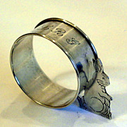 Figural Bunny Napkin Ring Webster Sterling