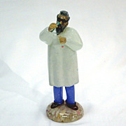 Czechoslovakian Art Glass Chemist Figure 1950's/1960's