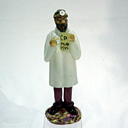 Czechoslovakian Art Glass Optometrist Doctor Figure