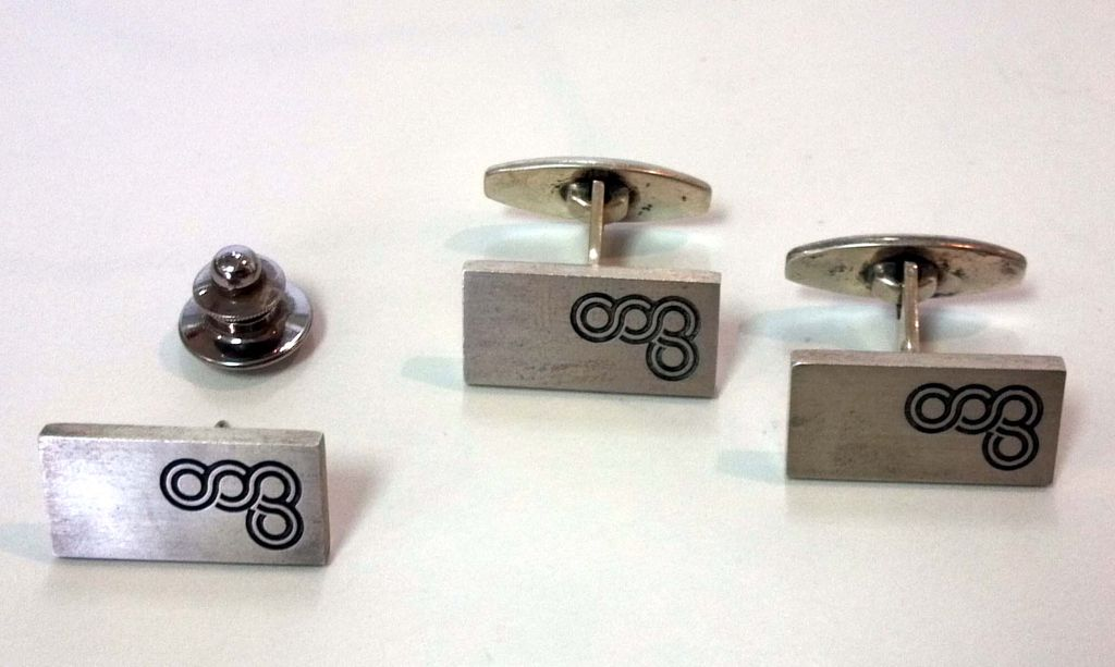 Sterling Cufflink and Tie Tack Set - Niels Erik From