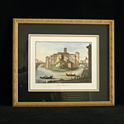 Two Fine Old Italian Custom Framed Paintings