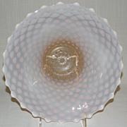 Beautiful Vintage FENTON Cranberry or Pink Opalescent Hobnail Bowl
