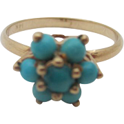14kt Persian turquoise Victorian ladies ring
