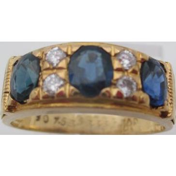 18kt Sapphire and diamond ladies ring