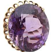 14kt Amethyst ladies ring
