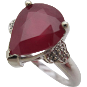 14kt Ruby and diamond ladies ring