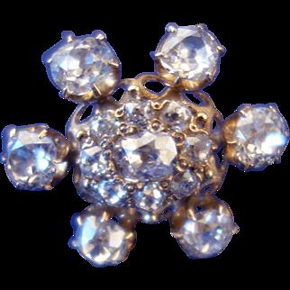 SALE Antique 5.53ct. Diamond Brooch c.1870