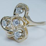 "Vintage ""14K Yellow Gold"" .40 carat Diamond Ring So Pretty 6.5 grams"