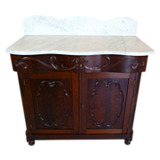 Marble Top Washstand American Victorian c. 1860