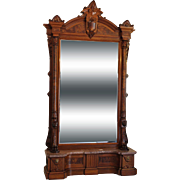 American Victorian Hall Mirror c. 1870s