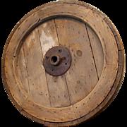 Large Antique Mill Wheel c. 1850