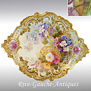 """Antique France hand-painted plaque/ painting on porcelain, artist signed """"A. Grosbras"""", 19th-- early 20th"""