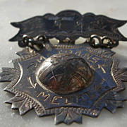 Vintage Past Worthy Matron Badge Medal - Sterling Silver Order of the Masonic