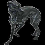 Austrian Bronze Hound Dog Figure Sculpture - c. 20th Century, Austria
