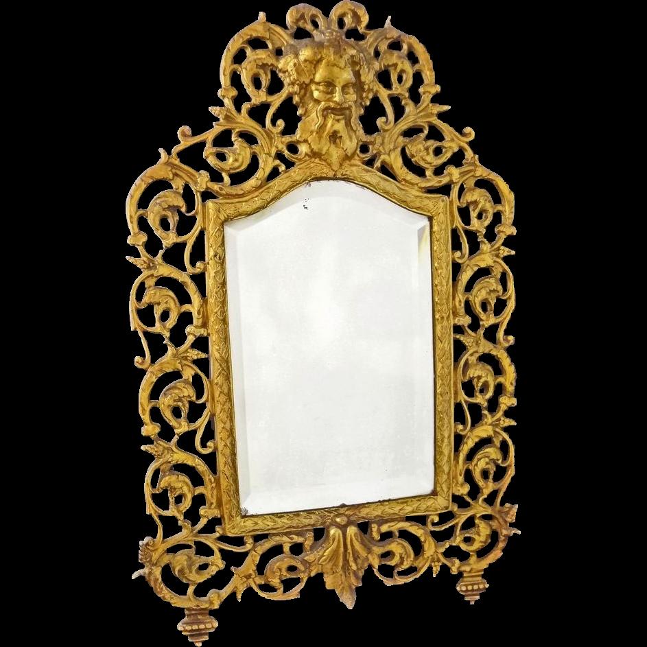 Bradley & Hubbard Bacchus Mirror with Original Bevelled Glass Neoclassic - c. 19th Century, USA
