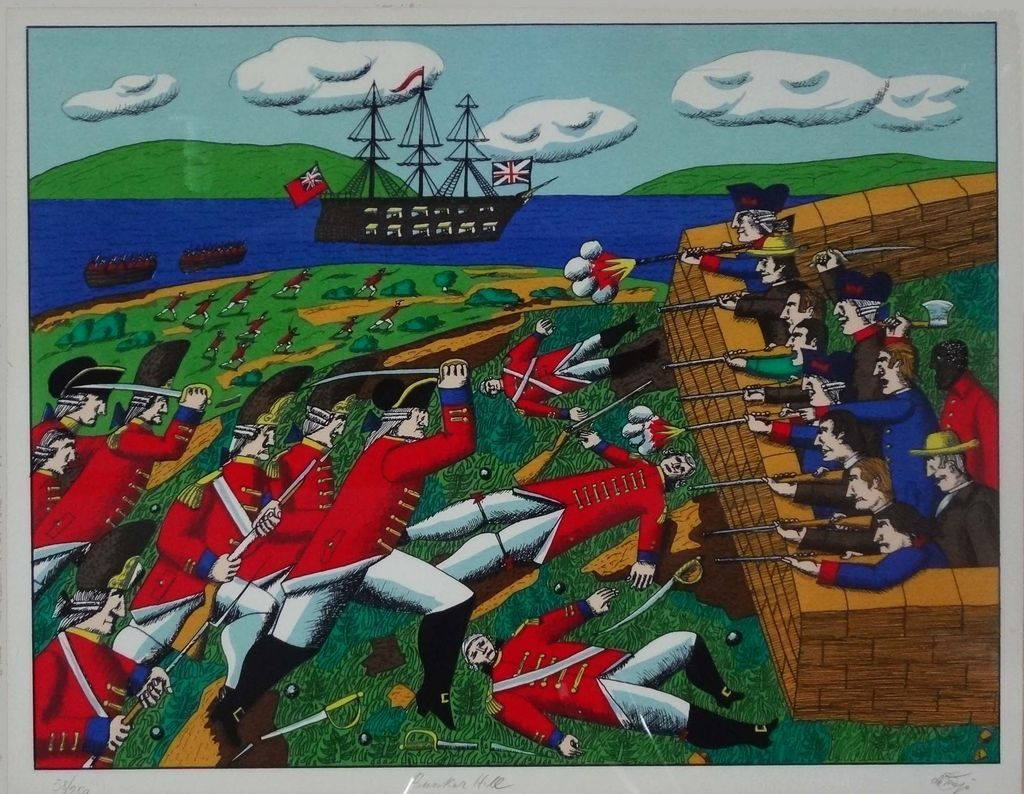 Bunker Hill Authenticated, Signed & Numbered Serigraph de Mejo - 1975, USA