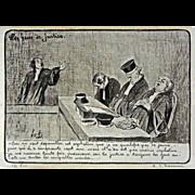 Lithograph Honoré Daumier Les Gens de Justice Plate 11 France