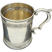 Antique Coin Silver Cann / Mug inscribed Charlietta / C.G.H. - c. 1840's, New York