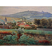 Antique Austrian Landscape Watercolor signed G. Zafaurek - 19th/20th Century, Austria