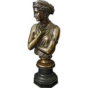 French Bronze Bust of Helen of Troy signed J. Clesinger Rome 1860 / Barbedienne Fondeur - 19th Century, France