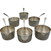 Set of Six ( 6 ) Christofle Silver Plated Small Sauce Pans / Pots - 1862-1935 mark, France