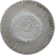 Christofle Gallia Silver Plate Vannerie Bread or Fruit Basket - France