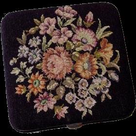 Antique Lady's Cigarette Case Textile - c. 19th Century