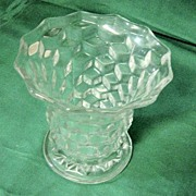 "Flared 5 3/8"" Fostoria American Clear Vase"