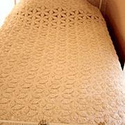Vintage Crochet Pinwheel Bed Spread And Dresser Scarves Handmade