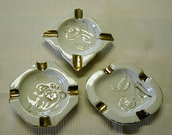 Vintage Occupied Japan Small Ashtrays