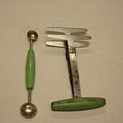 Vintage Chopper And Mellon Ball Spoon